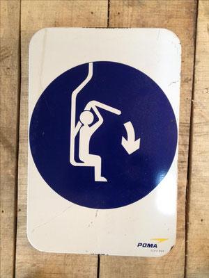 Panneau ski vintage altipic ref 004 avec pied + embase acier (2 exemplaires)