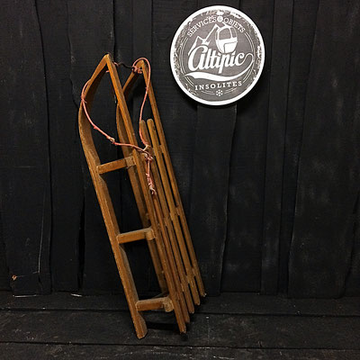 luge bois vintage altipic ref003