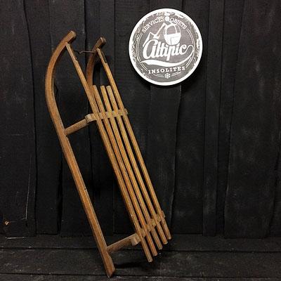 luge bois vintage altipic ref001 réservé