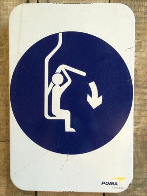 Panneau ski vintage altipic ref 032  avec pied + embase acier RESERVE