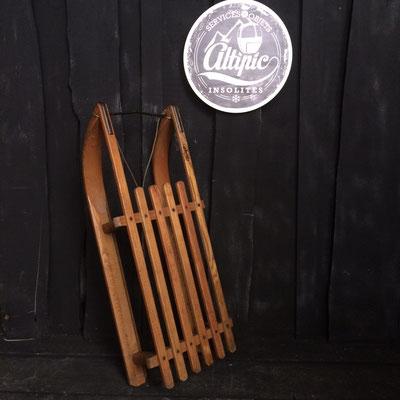 luge bois vintage altipic ref011 réservé