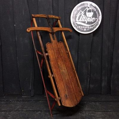 luge bois vintage altipic ref004 réservé