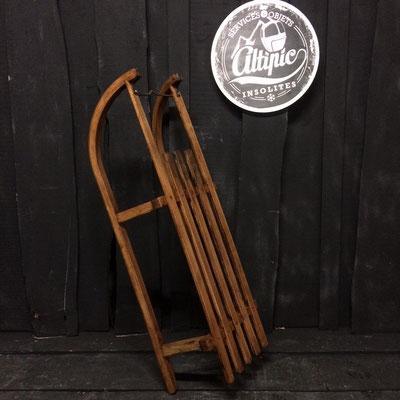 luge bois vintage altipic ref008 réservé