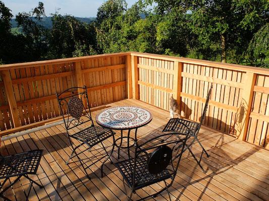 Terrasse einsatzbereit
