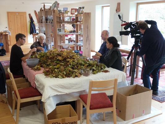 ORF-Dreh NÖ-Heute im Haus der Elsbeere
