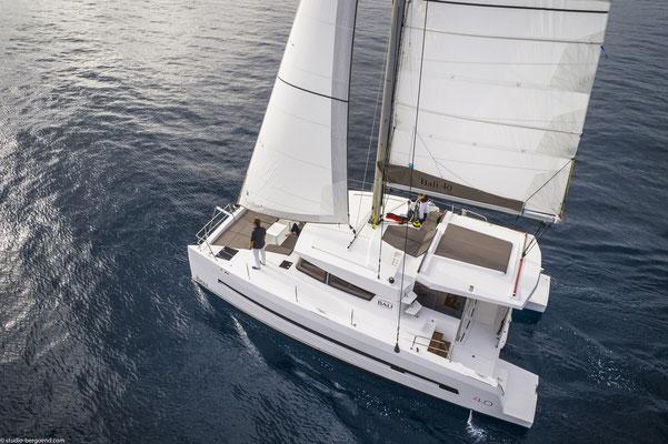 Bali-Yacht von oben