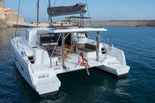 Bali-Yacht von hinten