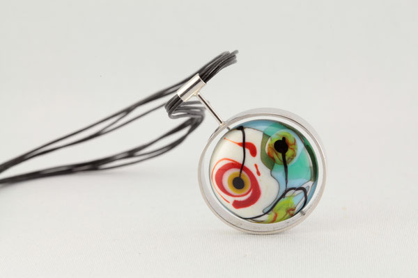Collier Eclipse solaire (Inspiration Kandinsky)
