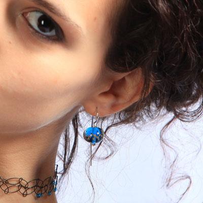 Boucles d'oreille Perles de rosée