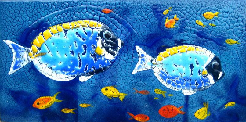 SOUTH SEA FISHES copper, hot enamel, 2011  РЫБКИ ЮЖНОГО МОРЯ    медь, горячая эмаль