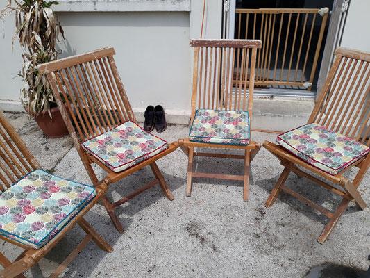 Chaise d'extérieur - Au Fil des Tissus