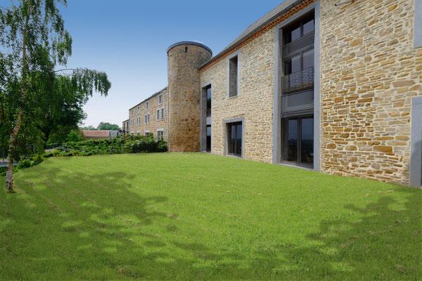 Ferme Chateau à Lincé  2016 pour Axe Contruction