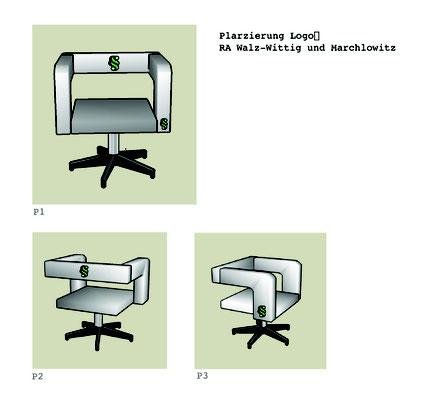 Animation des Logos auf gewählten Stuhlmodell