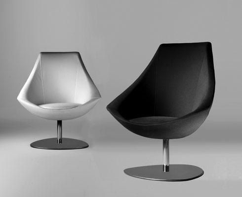 Auswahl des Stuhlmodell Rohlings- Loungechair