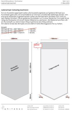 Thermoverklebung des bedruckten Kunstleders zur Stabilisierung- Anleitung