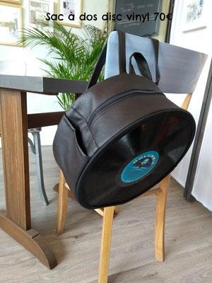 Sac à dos disc vinyl 70€