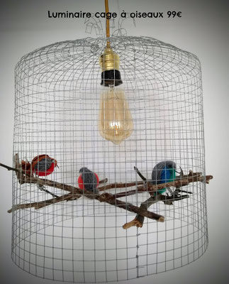 Luminaire cage à oiseaux 99€
