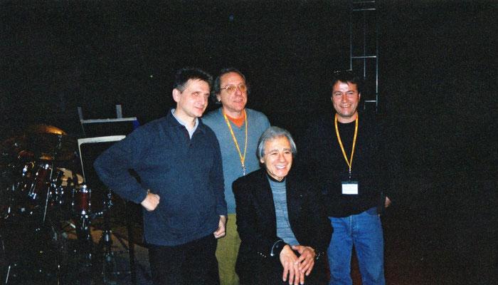 Lalo Schifrin, Gilles Rea, Umberto Pagnini, Christophe Le Van au Festival du film d'Auxerre
