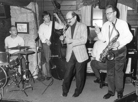 Marcel Zanini, Gérard Badini, François Laudet, Christophe Le Van Club de Jazz Les 5 Rues à Megève