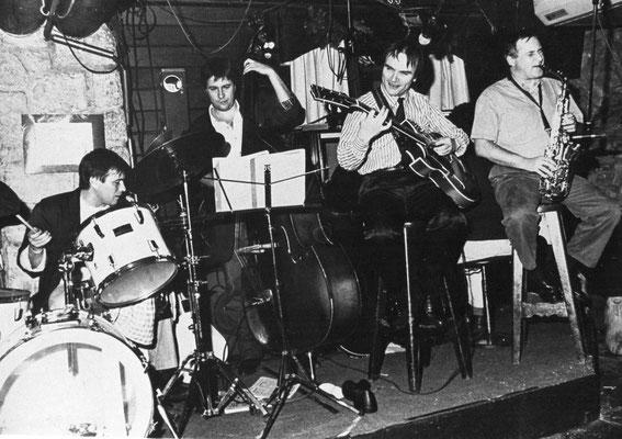 Daniel Huck, Marc Fosset, Philippe et Christophe Le Van au Club de Jazz 'Les 5 Rues' à Megève
