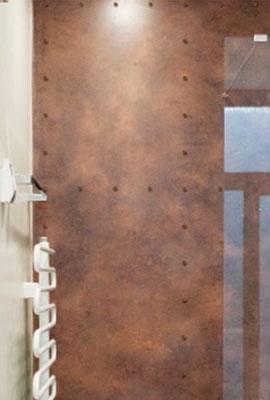 Rost-Beton Platte hauchdünn