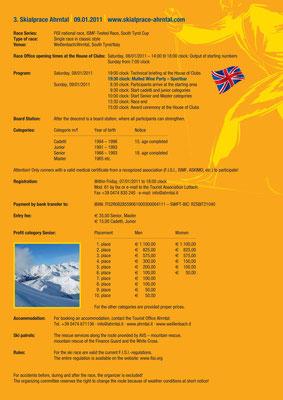 Skialprace Ahrntal 2011 - Broschüre