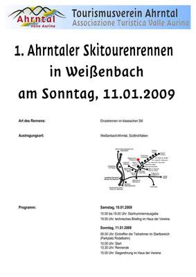 Skialprace Ahrntal 2009 - Broschüre
