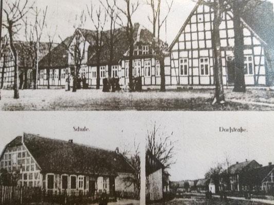 Postkartenansicht Fachwerkdorf Schmölau um 1870, c unbekannter Fotograf