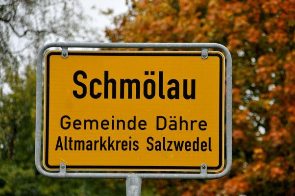 Ortseingangsschild Schmölau