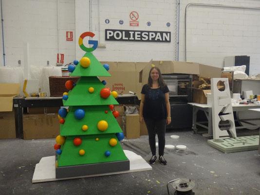 árbol de navidad corporativo google