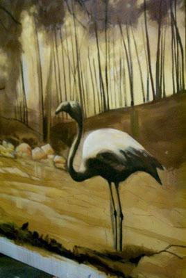 Pintura Escenográfica de un Forillo (Flamingo)