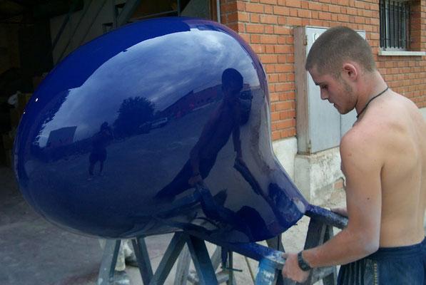 Escultura en fibra de vidrio