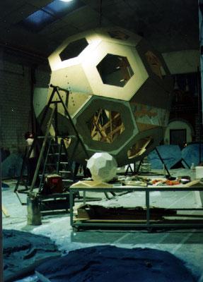 Icosaedro Truncado de 5 metros de diametro