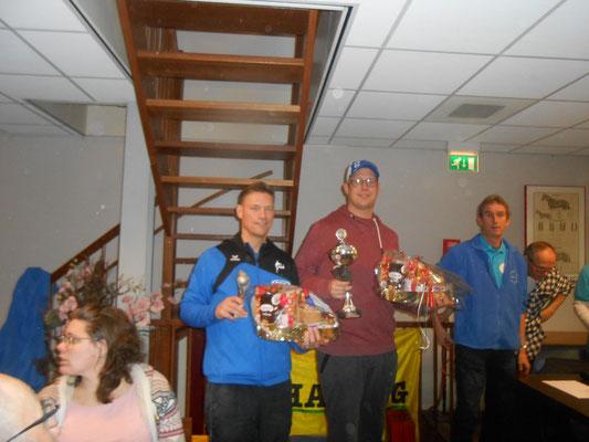 De winnaars Dennis Bakker en Mark Norder