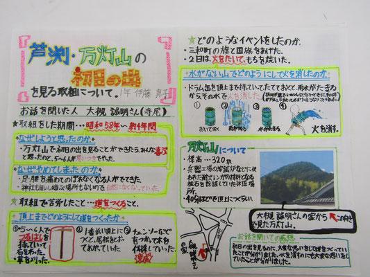 芦渕・万灯山の初日の出を見る取組について
