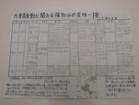大身騒動に関わる福知山の百姓一揆