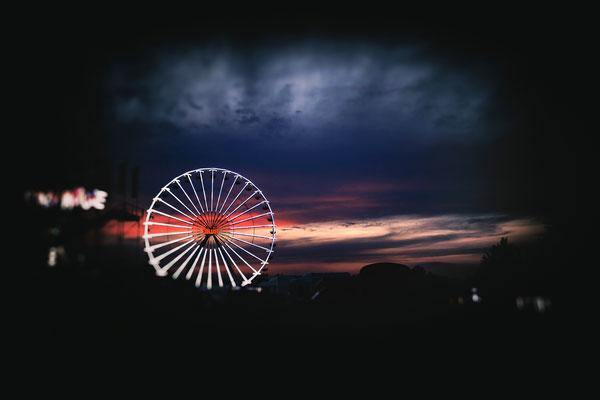 Berlin Riesenrad Nachtaufnahme