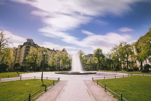 Berlin Viktoria-Luise-Platz Langzeitbelichtung