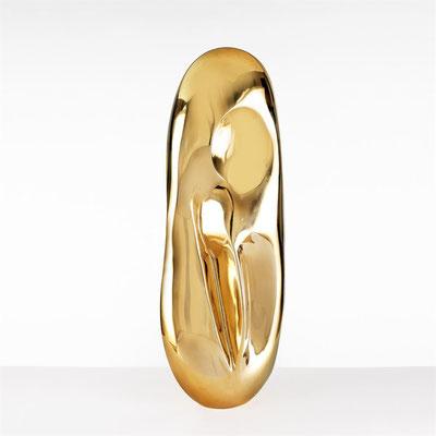 Wander Bertoni  Titel: Das Rhythmische E  Technik: Bronze, poliert  Größe: Höhe 72 cm  Edition: Auflage 7
