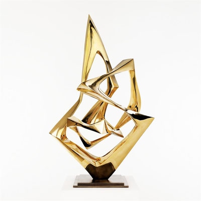 Bertoni Wander  Titel: Bewegung II  Technik: Bronze, poliert  Größe: Höhe 83 cm  Edition: Auflage 7  Jahr: Entwurf 1958
