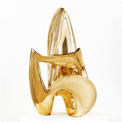 Wander Bertoni  Titel: Das Rhythmische B  Technik: Bronze, poliert  Größe: Höhe 72 cm  Edition: Auflage 7  Jahr: Entwurf 1954