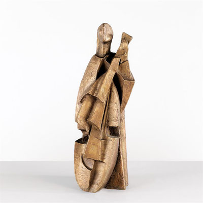 Wander Bertoni  Titel: Cellistin  Technik: Bronze, patiniert  Größe: Höhe 38 cm  Edition: Auflage 10  Jahr: Entwurf 1959