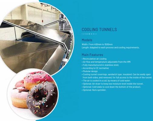 Tunnel de séchage aprés enrobage