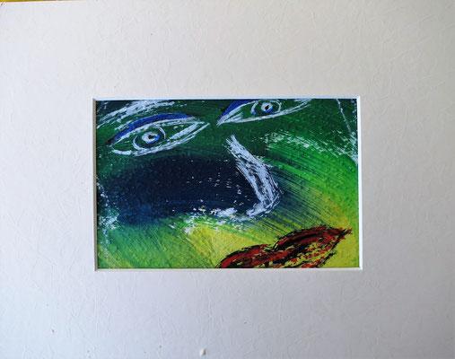 Das Gesicht 1 Acryl auf Papier