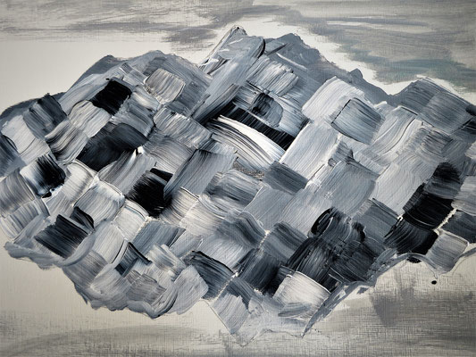 Pilaus abstrakt 1. Acryl auf Papier 40 x 30 cm 25.00