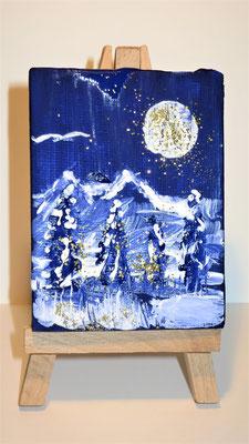 Winterwunderland Minibild 6 x 8 cm (verkauft