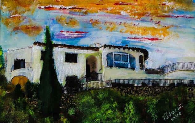 Monte Pego, Acryl auf Leinwand 25 x 18 cm (verkauft)