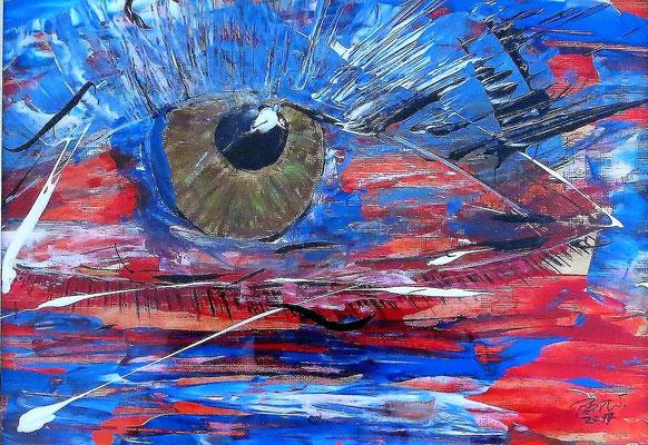 Das Auge 1 Acryl auf Papier