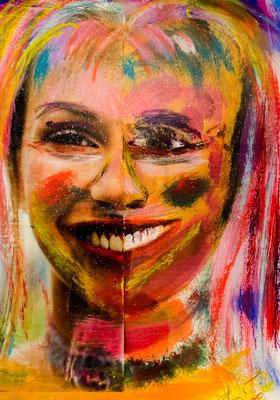 Collage mit Foto und Malerei