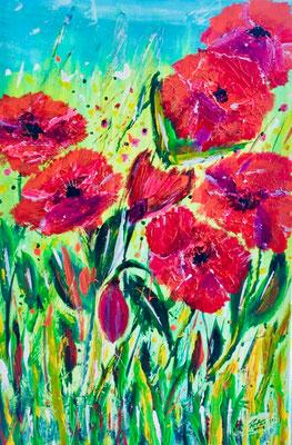 Sommerwiese Acryl auf Leinwand 40 x 60 cm